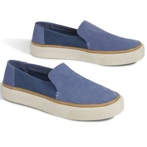 Toms Sunset Suede Slip-On Sneaker in Infinity Blue